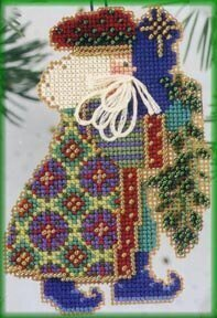 Eastern Star Santa - Beaded Cross Stitch Kit
