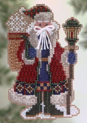 Snow Drift Santa - Beaded Cross Stitch Kit