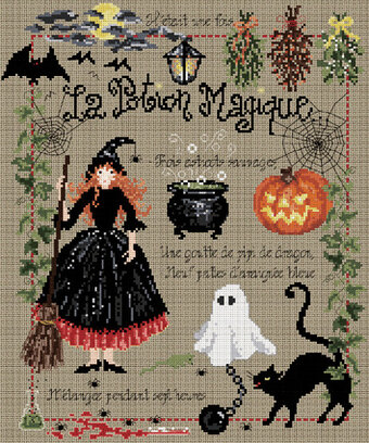 La Potion Magique (The Magic Potion) - Cross Stitch Pattern