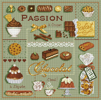 Passion Chocolat (Passion for Chocolate) - Cross Stitch