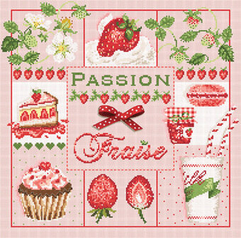Passion Fraise (Strawberry Passion) - Cross Stitch Pattern