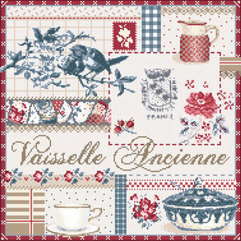 Vaiselle Ancienne (Old Dishes) - Cross Stitch Pattern
