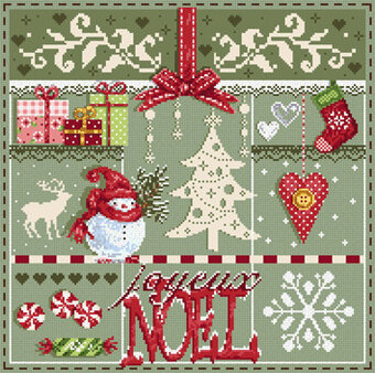 Bientot Noel (Christmas is Soon) - Cross Stitch Pattern