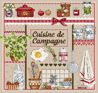 Cuisine de Campagne (Country Kitchen) - Cross Stitch Pattern