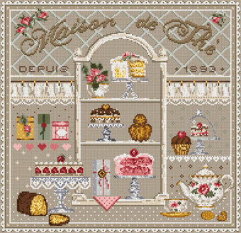 Maison de The (Tea House) - Cross Stitch Pattern
