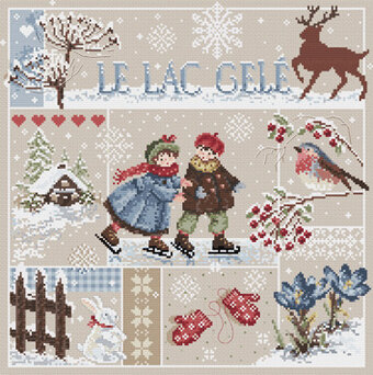 Le Lac Gele (Frozen Lake) - Cross Stitch Pattern