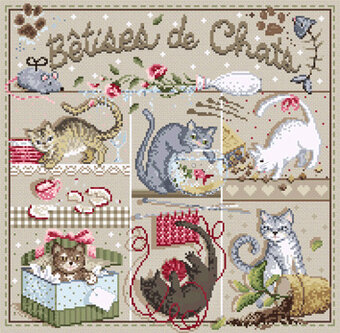 Betises de Chats (Cat Whimsy) - Cross Stitch Pattern