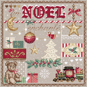 Un Noel Enchante (Enchanted Christmas) Cross Stitch Pattern