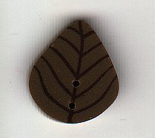 Small Olive Leaf - Button