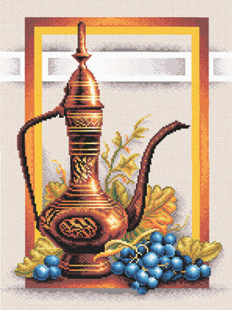 Still Life with Grapes - Cross Stitch Kit