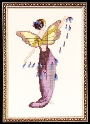 Lavender Spring Garden Pixie - Cross Stitch Pattern
