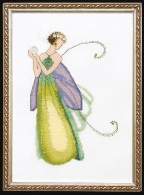 Gardenia Spring Garden Pixie - Cross Stitch Pattern