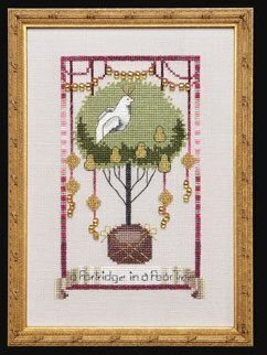 12 Days Of Christmas Cross Stitch.Partridge In A Pear Tree 12 Days Of Christmas Cross Stitch