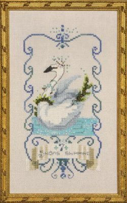 12 Days Of Christmas Cross Stitch.Seven Swans A Swimming 12 Days Of Christmas Cross Stitch