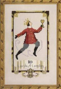 Ten Lords A Leaping - 12 Days of Christmas - Cross Stitch