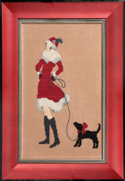 Red Puppy - Cross Stitch Pattern