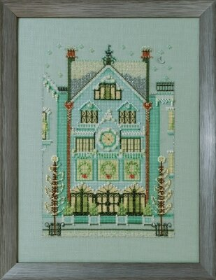 Clockmaker's House - Holiday Village Cross Stitch Pattern