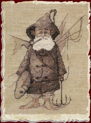 Le Pecheur (The Fisherman) - Cross Stitch Pattern