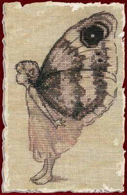 Le Papillon (The Butterfly) - Cross Stitch Pattern