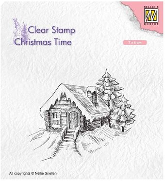 Cosily Snowy Cottage - Nellie's Choice Clear Stamp