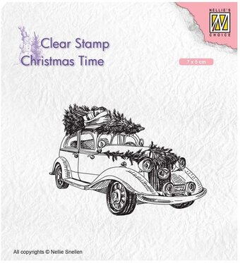 Christmas Tree Transport - Nellie's Choice Clear Stamp