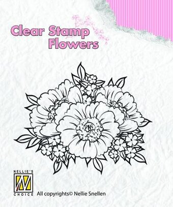 Anemones - Nellie's Choice Clear Stamp