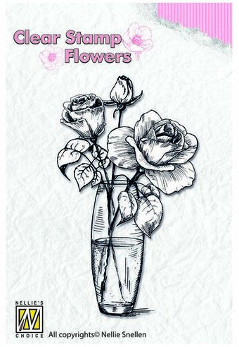 Roses - Nellie's Choice Clear Stamp
