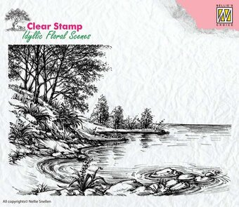 Water's Edge - Nellie's Choice Clear Stamp