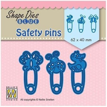 Blue Safety Pins - Nellie's Choice Shape Dies