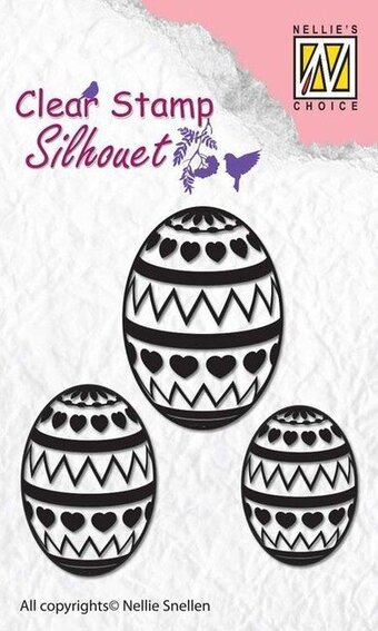 Silhouette Easter Eggs - Clear Stamp