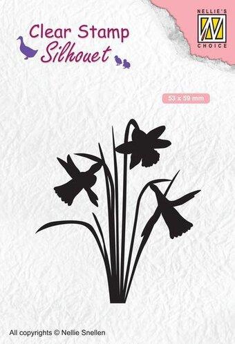 Nellie Snellen FLO016 Clear Stamps Flowers snowdrops 57x75mm