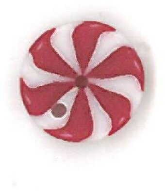 Tiny Peppermint Swirl Button