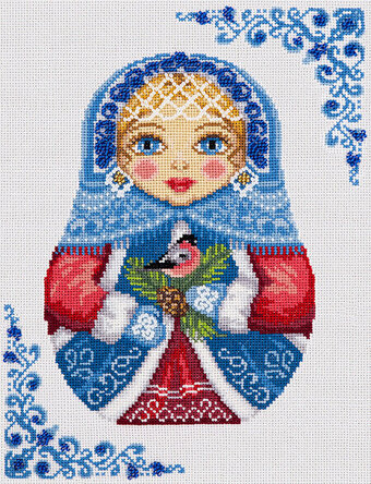 Russian Doll - Winter - Cross Stitch Kit