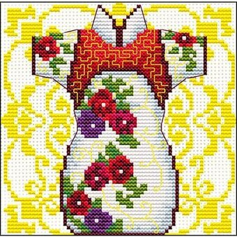 Female Geisha Rose - Pre-Printed Cross Stitch Kit