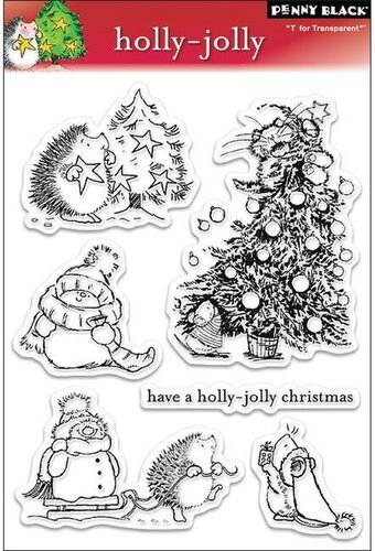 holly jolly christmas clear stamp - Christmas Stamp
