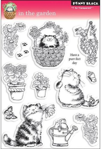 In The Garden - Rubber Stamp