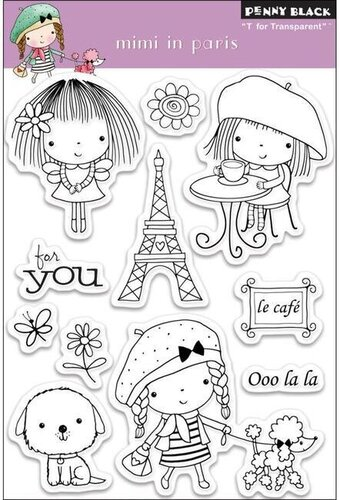 Mimi In Paris - Clear Rubber Stamp