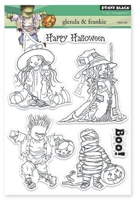 Glenda and Frankie - Halloween Clear Stamp