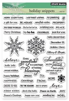 Holiday Snippets - Christmas Clear Stamp