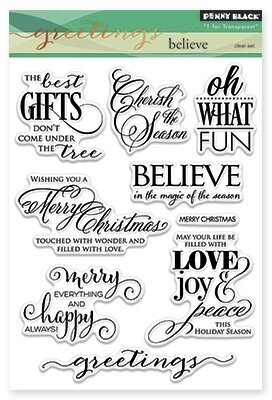 Believe - Christmas Clear Stamp