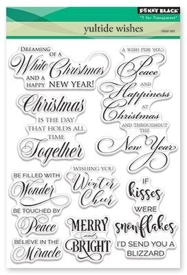 Yuletide Wishes - Christmas Clear Stamp