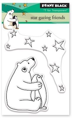 Star Gazing Friends - Clear Stamp