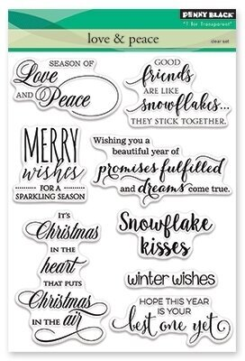 Love and Peace - Christmas Clear Stamp
