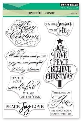 Peaceful Season - Christmas Clear Stamp