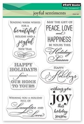 Joyful Sentiments - Christmas Clear Stamp