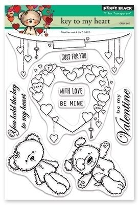 Key To My Heart - Penny Black Clear Stamp
