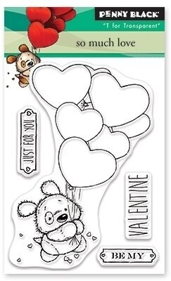 So Much Love - Penny Black Clear Stamp