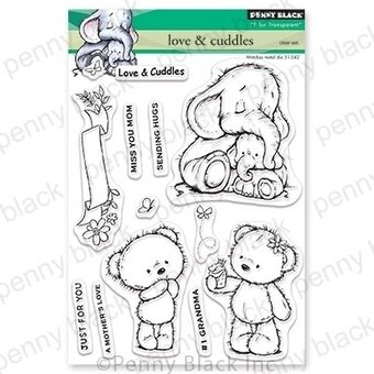Love and Cuddles - Penny Black Clear Stamp