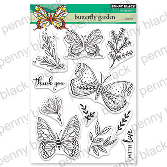 Butterfly Garden - Penny Black Clear Stamp