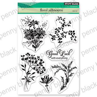 Floral Silhouette - Penny Black Clear Stamp